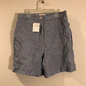 NWT Vintage Gingham Checkered Picnic Shorts